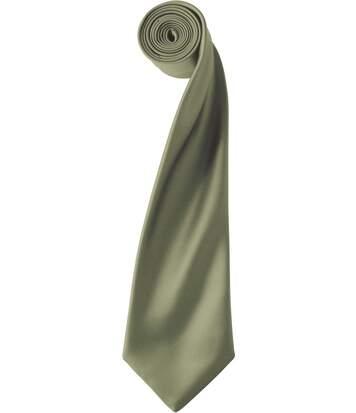 Cravate satin unie - PR750 - vert olive