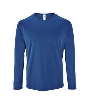SOLS Mens Sporty Long Sleeve Performance T-Shirt (Royal Blue) - UTPC2903