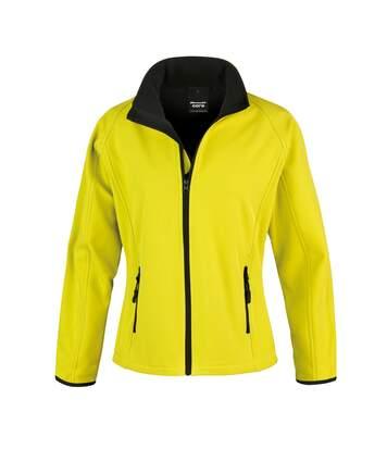Result Womens/Ladies Core Printable Softshell Jacket (Yellow / Black) - UTRW3696