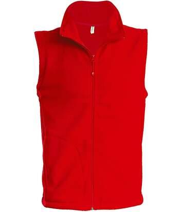 Gilet sans manches micro polaire homme - K913 - rouge
