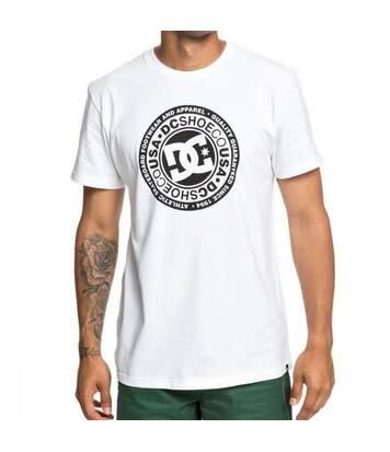 T-shirt Blanc Homme DC Shoes Circle Starss2