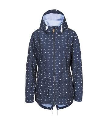 Trespass Womens/Ladies Drifting Waterproof Jacket (Navy Print) - UTTP4654
