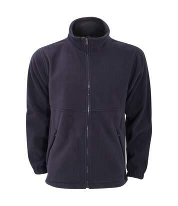 Ultimate Clothing Unisex Full Zip Fleece Top (Navy Blue) - UTBC3346