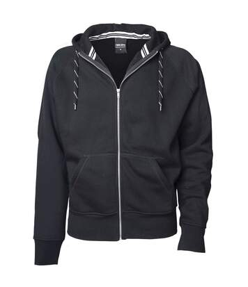 Tee Jays Mens Full Zip Hooded Sweatshirt (Dark Grey) - UTBC3319