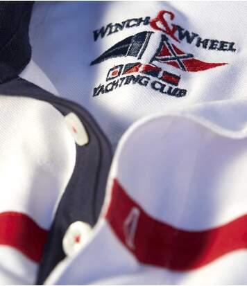 Men's White Yachting Club Piqué Polo Shirt