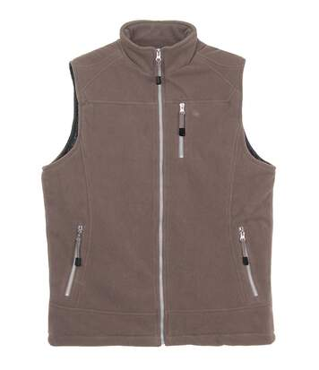 CHAMBERY2 GILET SM POLAIRE TAUPE