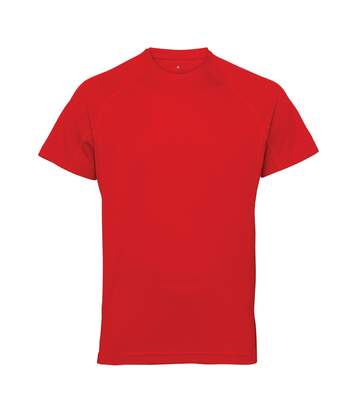 Tri Dri Mens Panelled Short Sleeve T-Shirt (Fire Red) - UTRW4799