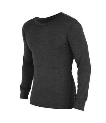 FLOSO Mens Thermal Underwear Long Sleeve T Shirt Top (Standard Range) (Charcoal) - UTTHERM22