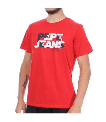 T shirt rouge Homme Pepe Jean Milo Ro