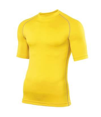 Rhino Mens Sports Base Layer Short Sleeve T-Shirt (Yellow) - UTRW1277