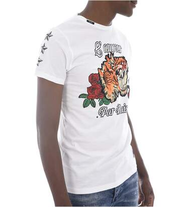 Tee Shirt Motif Brodé Coton Mitrer  -  Hite Couture