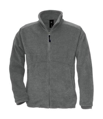 B&C Mens Icewalker+ Full Zip Fleece Top (Charcoal) - UTRW3030