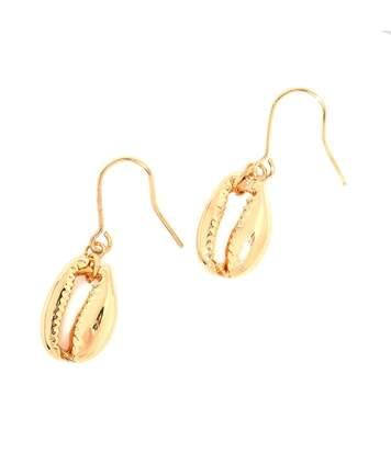 Boucles d'oreilles bohème coquillage dorée
