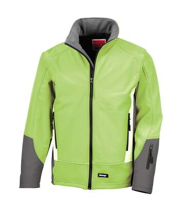 Result Mens Blade 3 Layer Softshell Performance Jacket (Water Resistant And Windproof) (Lime/ Charcoal/ Pale Grey) - UTRW3210