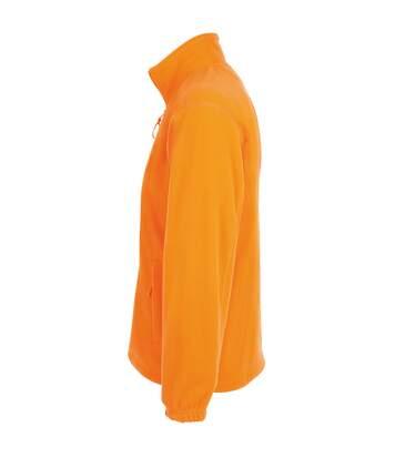 SOLS Mens North Full Zip Outdoor Fleece Jacket (Neon Orange) - UTPC343