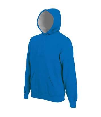 Kariban Mens Heavy Contrast Hooded Sweatshirt / Hoodie (Red) - UTRW717