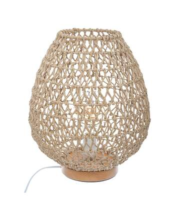 Atmosphera - Lampe à poser en métal et papier H 35.5 cm Etel