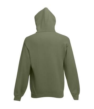 Fruit Of The Loom Mens Hooded Sweatshirt (Heather Grey) - UTBC1369