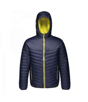 Regatta Mens Acadia II Hooded Jacket (Black Blue/Lemon Yellow) - UTRG3745