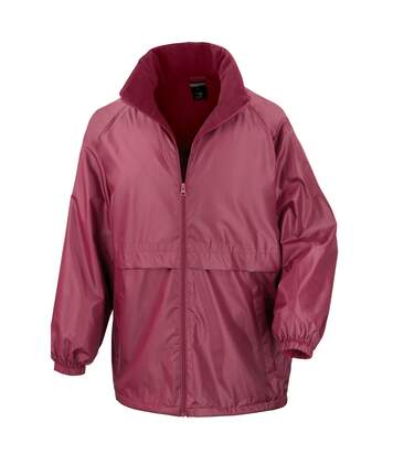 Result Mens Core Adult DWL Jacket (With Fold Away Hood) (Burgundy) - UTBC896