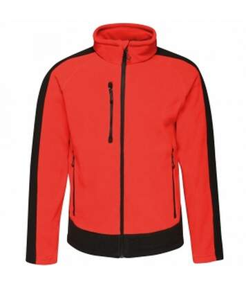 Regatta Mens Contrast Fleece Jacket (Classic Red/Black) - UTRG3568