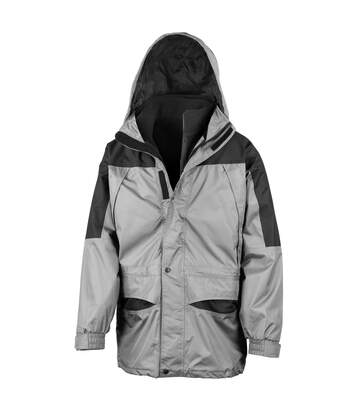 Result Mens Alaska 3-in-1 StormDri Waterproof Windproof Jacket (Grey/Black) - UTBC941