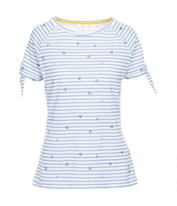 Trespass - T-Shirt Imprimé Penelope - Femme (Blanc/bleu) - UTTP4982