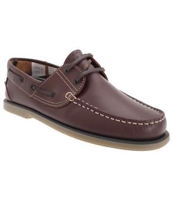 Dek Mens Moccasin Boat Shoes (BrownLeather) - UTDF676