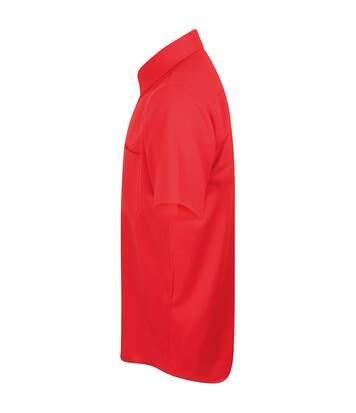 Henbury Mens Wicking Short Sleeve Work Shirt (Navy) - UTRW2698