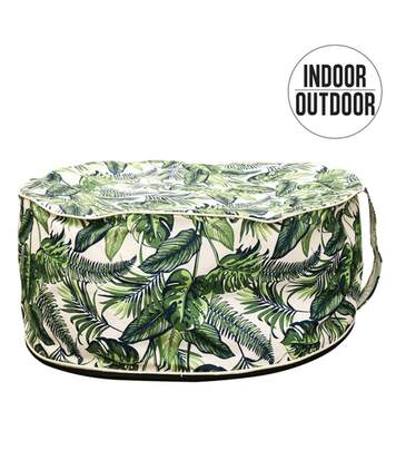 Pouf de jardin gonflable design jungle Lola - Diam. 56 cm - Vert
