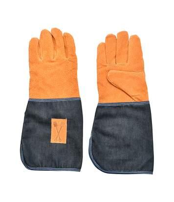 Gants de jardinage en cuir et jean - Esschert Design