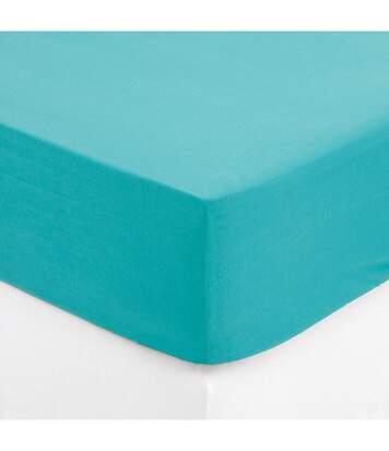 Atmosphera - Drap housse turquoise 140x190