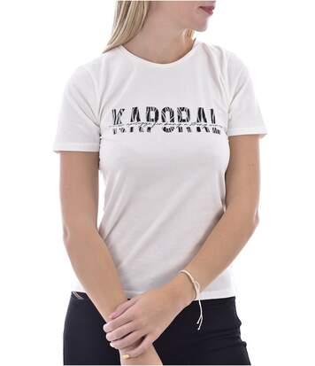Tee shirt stretch à logo imprimé  -  Femme - Kaporal