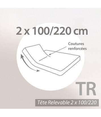 Protège matelas absorbant 2x100x220 Antonin spécial lit articulé TR Grand bonnet 40cm