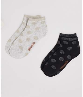 Lot de deux paires de socquettes femme