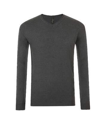 SOLS Mens Glory V Neck Sweater (Charcoal Marl) - UTPC2829