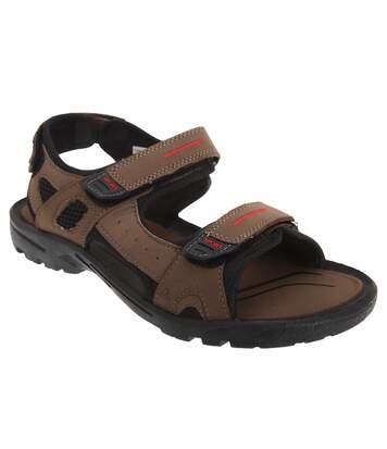 PDQ - Sandales de sport à scratch - Homme (Marron) - UTDF802