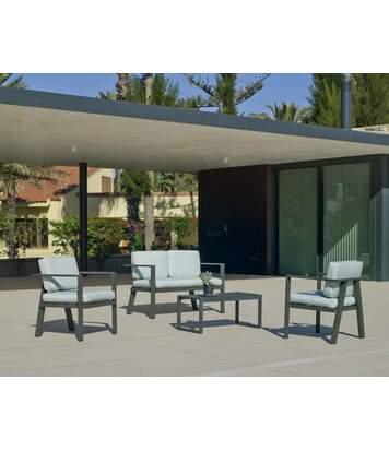Salon de jardin en aluminium 4 places Awena