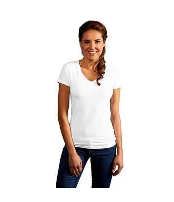 T-shirt slim col V Femmes