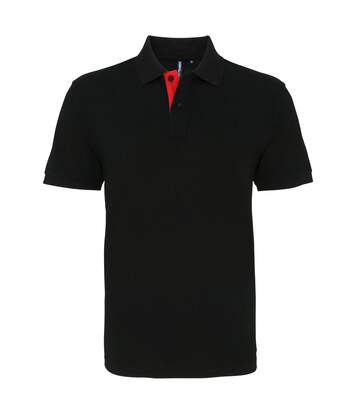 Asquith & Fox - Polo Classique - Homme (Noir/Vert) - UTRW4810