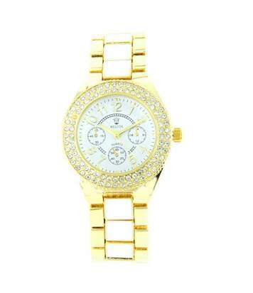Montre Femme M. JOHN bracelet Acier Blanc