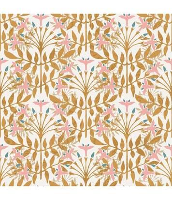 Atmosphera - Parure de lit 2 Personnes 240 x 220 cm Housse de couette avec 2 taies Imprimé Fleurs et Feuilles