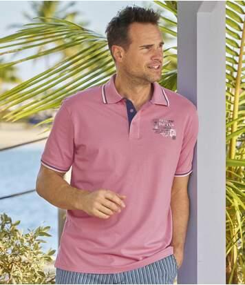 2er-Pack Poloshirts Summer Island