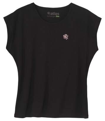 Le Tee-Shirt Femme Sans Manches Coton Bio Noir