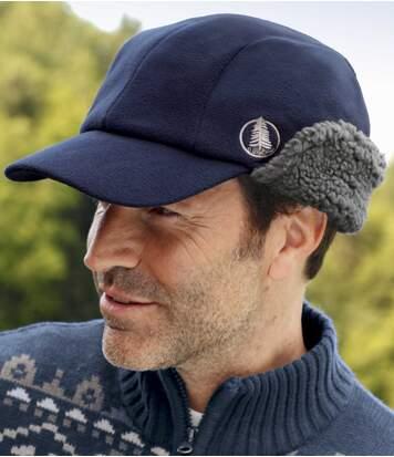 Men's Navy Polar Fleece Cap