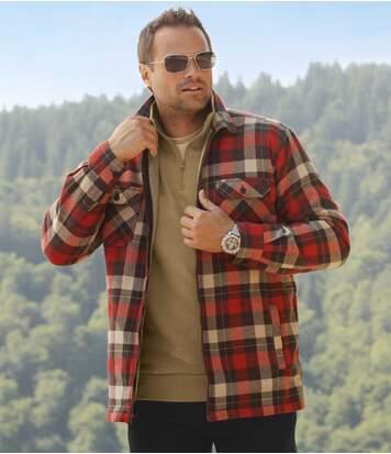 Wierzchnia koszula podszyta kożuszkiem sherpa