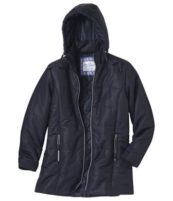 Hosszú kapucnis kabát
