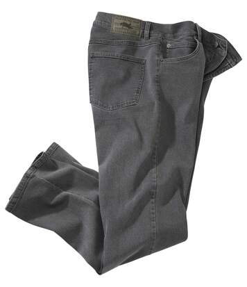 Men's Grey Stretch Denim Jeans
