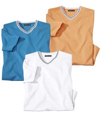 3er-Pack T-Shirts Palma mit V-Ausschnitt
