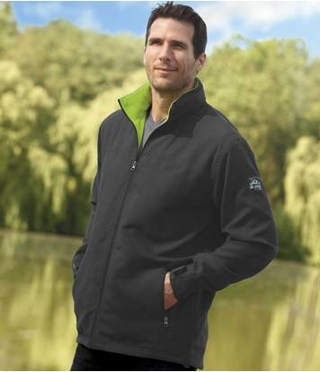 Men's Grey Microfibre and Fleece Sportswear Jacket